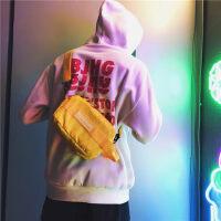 韩版斜挎包男胸包潮牌时尚户外学生透明单肩包女蹦迪包休闲腰包