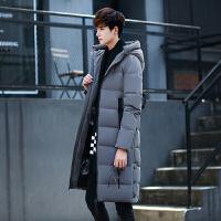 韩版修身潮流羽绒服加厚保暖男装冬季新款 雪洲豹78灰色 0/M