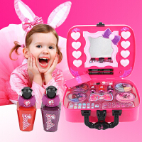 芭比公主小女孩口红美妆百宝箱儿童彩妆玩具创意个性生日礼物 红色 美妆百宝箱