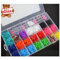 韩国rainbow热销编织手链手绳彩虹编织手圈彩色橡皮筋DIY手工手链
