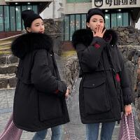 【限时抢购】派克服女冬季中长款2019新款韩国东大门外套棉服连帽毛领女潮爆款