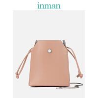 茵曼包包 女包 时尚链条包单肩斜挎包个性甜美盒子包潮包