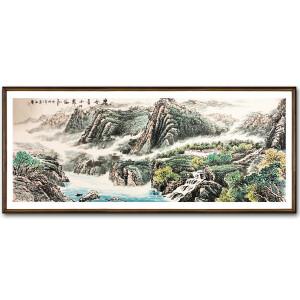 石庆《碧水青山》著名山水画家