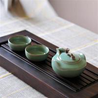 陶瓷故事龙泉青瓷功夫茶具套装 陶瓷茶侧手抓如意茶壶 梅子青