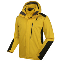 KELME卡尔美 K46C1025 男式三合一冲锋衣 防水防寒两件套上衣 棉内胆户外登山服