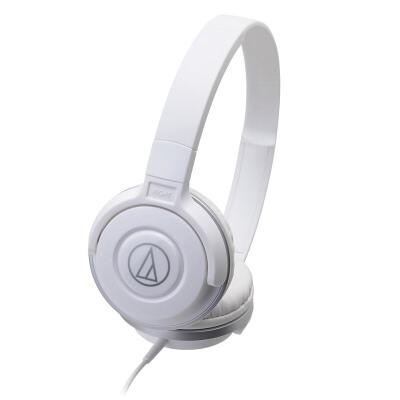 铁三角(Audio-technica)ATH-S100 HIFI重低音便携头戴式音乐耳机;佩戴方式>>入耳式 白色HIFI重低音线控带麦便携头戴式手机耳机