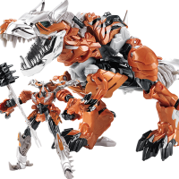 恐龙模型男孩儿童机器人王者威将合金版变形玩具金刚5钢索霸王龙