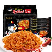 韩国进口三养超辣火鸡面140g*5袋辣鸡面干拌面方便面煮拉面包邮