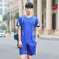 男士运动套装男夏季短裤短袖速干衣男款透气跑步运动服装两件套