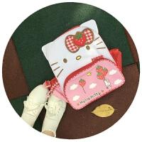 【黑猫家】韩国软萌可爱大儿童趣少女心粉嫩草莓KT小书包迷你双肩