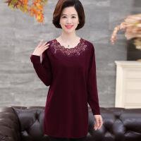 秋装新款中年女装打底衫中长款毛衣中老年羊毛衫针织衫连衣裙