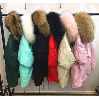 2018秋季新款反季韩国新款超大毛领羽绒服女中长款加厚大码派克服潮