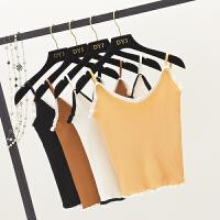 2018春装新款女装韩版夏季短款无袖打底针织吊带衫小背心内搭外穿