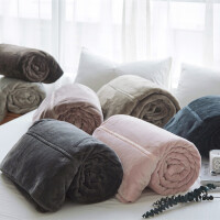 双层加厚保暖法莱绒毛毯单人双人盖毯珊瑚绒毯子沙发毯午睡毯床单