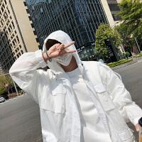 方少男装夏季韩版男女轻薄透气多口袋防晒衣魔术贴运动夹克防晒服