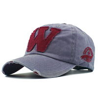 棒球帽春夏天 鸭舌帽男士帽子 女士休闲太阳帽遮阳帽户外男帽 HL0408 W棒球帽 灰色 56-60cm可调节