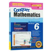 【现货】SAP Conquer Mathematics 6 六年级数学练习册 攻克数学系列 分数百分比比例 新加坡小学