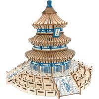 高难度3diy木质立体拼图建筑手工拼装模型木头房子拼插积木制