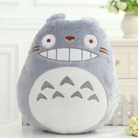 宫崎骏动漫黑猫龙猫小白小号靠垫抱枕毛绒玩具公仔布娃娃儿童玩偶 尺寸见详情描述