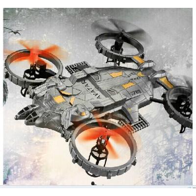 雅得YD712总部战机 四旋翼四轴飞行器 大型遥控飞机 阿凡达战斗机