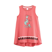 小猪班纳童装女童背心薄款中大童2018夏装新款韩版儿童无袖上衣女