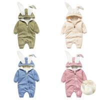 女婴儿连体衣服秋冬季0岁3男1个月宝宝冬装6新生儿外套装加绒秋装