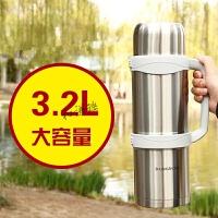 3000ml大容量户外保温壶不锈钢车载男士便携旅行杯家用2.5L 1升