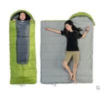 可拼接睡袋舒适户外露营加大加厚保暖睡袋抓绒里料信封带帽睡袋