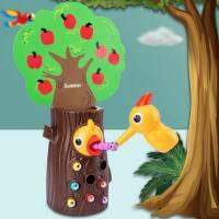 女孩男孩婴儿童啄木鸟吃抓捉虫子钓鱼玩具智力动脑