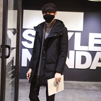 冬季中长款羽绒服男士加厚修身羽绒衣青少年韩版潮流外套男