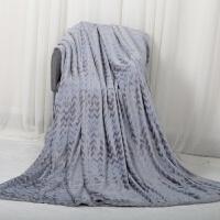 家纺毯子纯色法兰绒毯冬天毛毯礼盒双人盖毯床单加厚款保暖