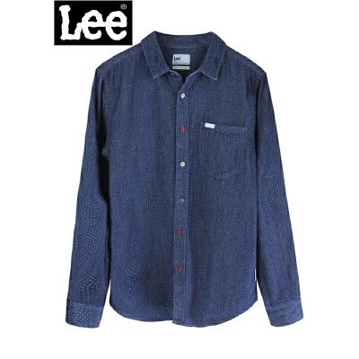 Lee商场同款 2017秋冬款 男士衬衫 休闲衬衫 牛仔衬衫L295862HE6QC