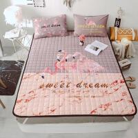 法兰绒席梦思折叠薄床垫双人软褥子垫被1.5m单人1.2米保护垫1.8m 宝宝绒薄床垫 双人180*200cm+枕套2个