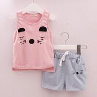 童装宝宝夏装男女童套装 婴幼儿衣服0-1-2-3-4岁夏季儿童背心套装