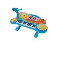 儿童早教玩具 多功能电子琴音乐拍拍鼓玩具宝宝儿童益智早教礼盒装生日礼物 蓝色
