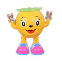电跳舞小苹果 2-7岁益智电动玩具跳舞机器人走路摇摆唱歌男孩女孩 黄色小苹果 送电池螺丝刀 官方标配