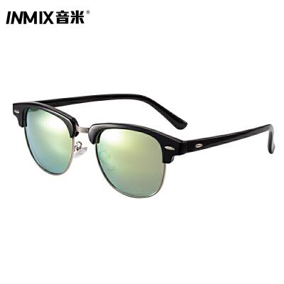 音米新款偏光太阳镜TR90金属半框时尚潮墨镜男女同款眼镜5044