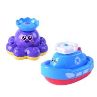宝宝洗澡玩具儿童玩水电动喷水小船男女孩浴室戏水玩具小轮船