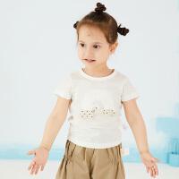 商场同款马拉丁童装女小童T恤夏款新款短袖T恤228516108X