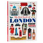 我的首部本关于伦敦的书 My First Book of London 英文原版绘本 地理风情 儿童课外兴趣阅读 大开