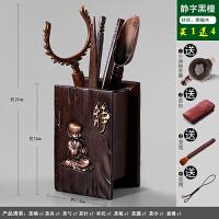 茶道六君子组合整套装功夫茶具零配件竹茶叶茶夹子镊子实木质