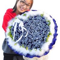 母节鲜花速递99朵红玫瑰花束 女友生日礼物 北京上海深圳广州鲜花 全国同城鲜花店送花上门