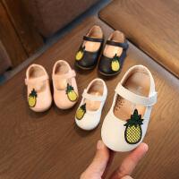 2018秋款女宝宝皮鞋 小公主单鞋菠萝婴儿学步鞋软底女童皮鞋0-2岁