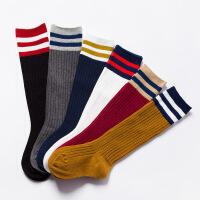 珈楚 春夏新款儿童长筒袜三条杠儿童过膝袜全棉儿童袜子 足球袜过膝袜