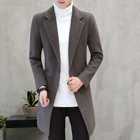 风衣男韩版呢子外套男冬季学生帅气青年韩系毛呢大衣男中长款修身