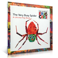Eric Carle艾瑞・卡尔 The Very Busy Spider: A Lift-the-Flap Book 非常忙的蜘蛛 翻翻书
