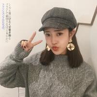 贝雷帽女秋冬韩版日系百搭八角帽英伦甜美可爱软妹毛呢蓓蕾鸭舌帽