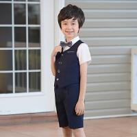 儿童礼服婚礼花童马甲套装男孩西装韩版服装学生六一演出服夏