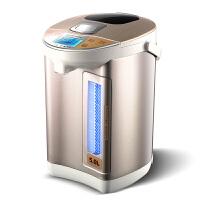AUX奥克斯HX-8186电热水瓶保温水壶烧水壶开5L家用304不锈钢(香槟色)
