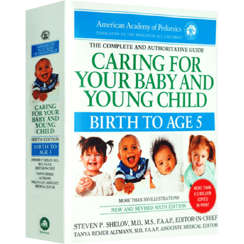 现货正版 美国儿科学会育儿百科 英文原版第六版 Caring for Your Baby and Young Child 英文版进口英语书籍儿科医生广泛推荐 新手父母 实用易懂